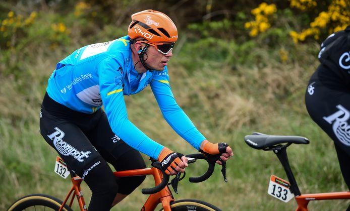 Jesper Asselman in actie tijdens de Tour de Yorkshire, waarin hij de eerste etappe won.