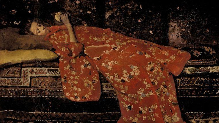 Meisje in Kimono van Breitner Beeld Rijksmuseum