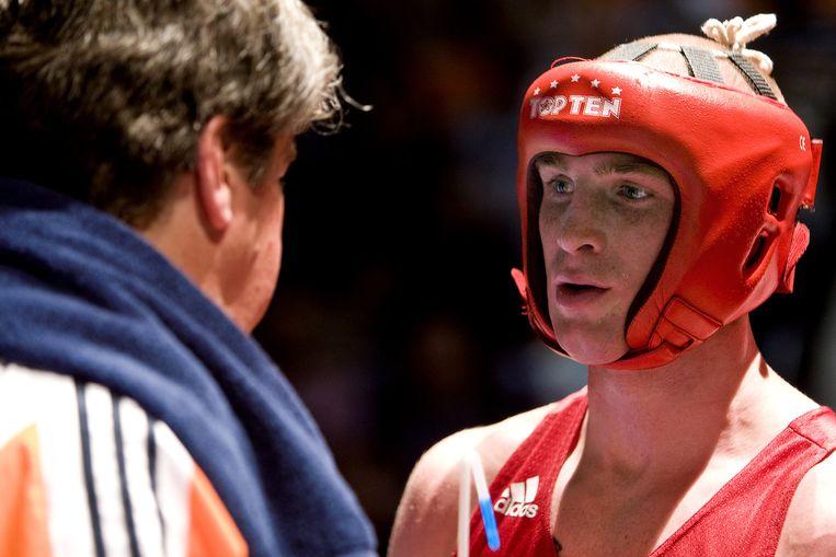 Peter Müllenberg, de eerste Nederlandse bokser in 24 jaar die zich wist te plaatsen voor de Olympische Spelen Beeld anp
