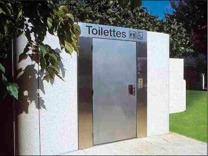 Voorbeeld van een openbaar toilet.