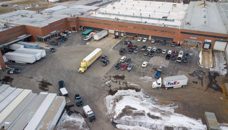 Het industrieterrein in Aurora waar de dodelijke schietpartij plaatsvond. Beeld AP