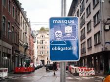 """Des panneaux """"masque obligatoire"""" transformés en Batman et Robin à Liège"""