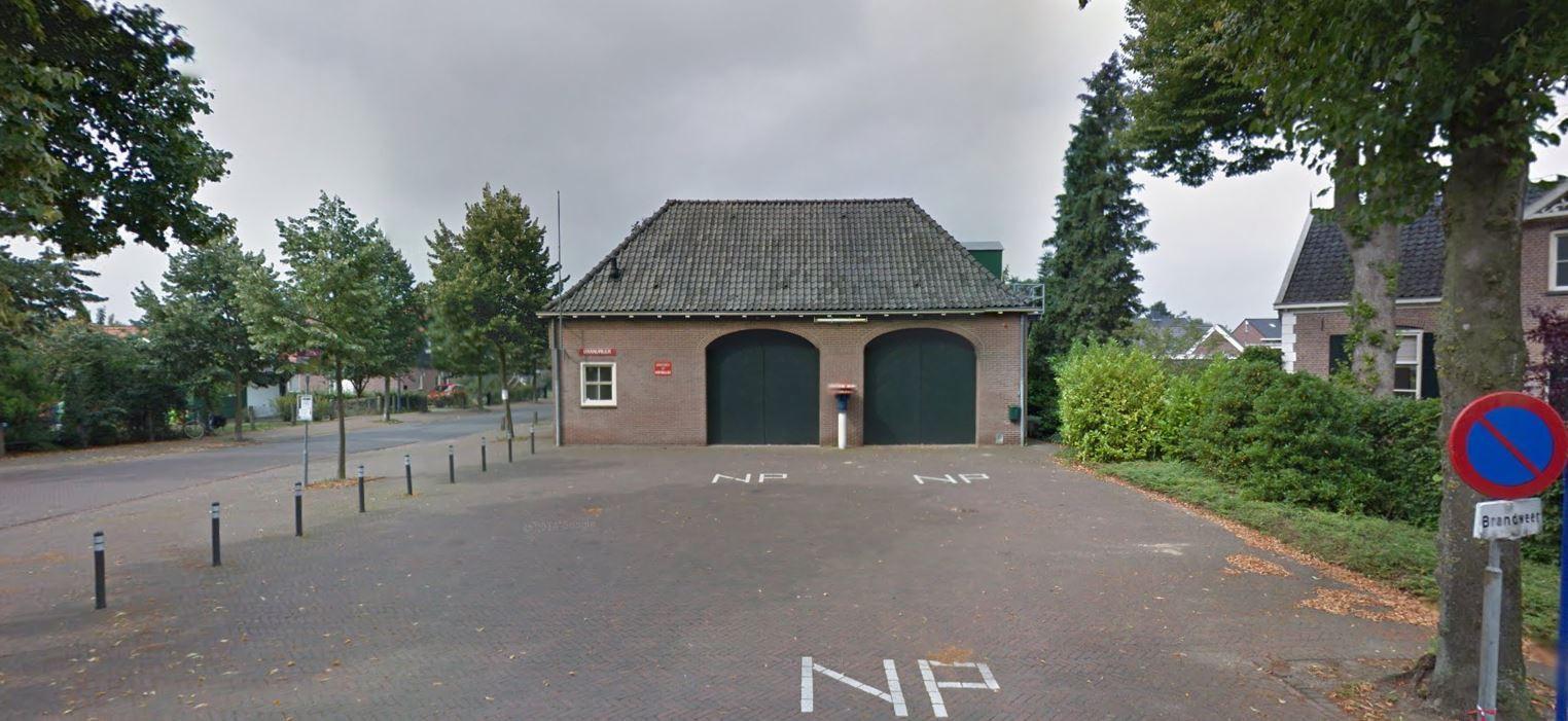 De brandweerpost in Almen