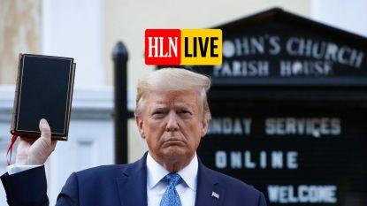 HLN LIVE. Trump dreigt leger in te zetten tegen demonstraties
