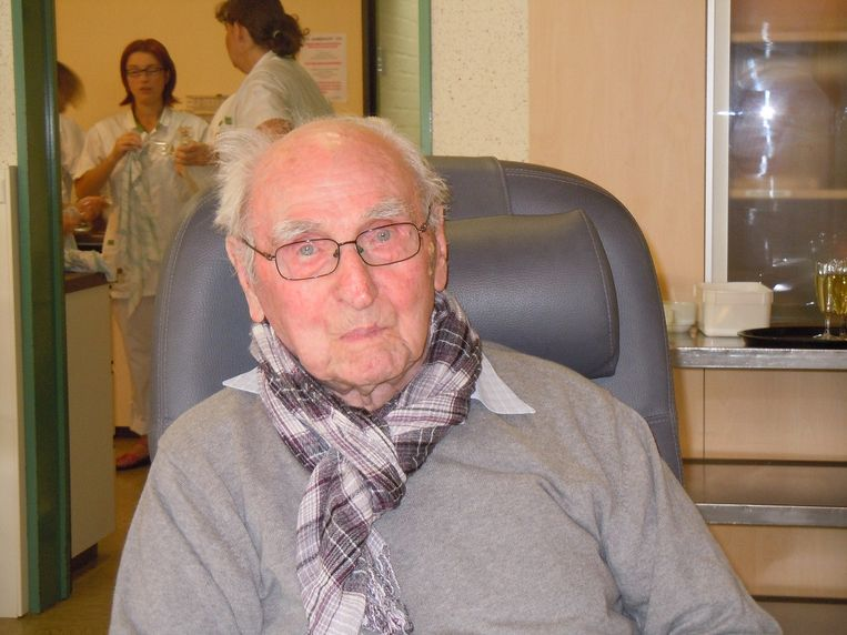Aime Wille op zijn 104de verjaardag.