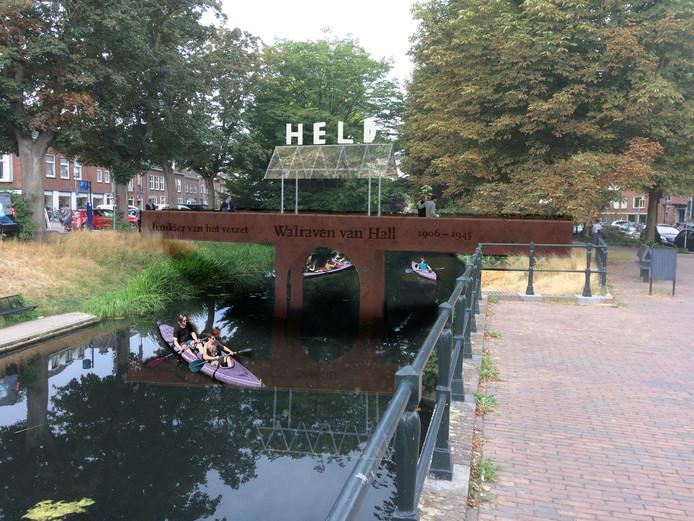 Een impressie van de nog te bouwen brug over de Berkel in Zutphen.
