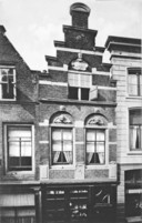 Grote Spuistraat, het originele huis de Ekster, afgebrand in 1956.