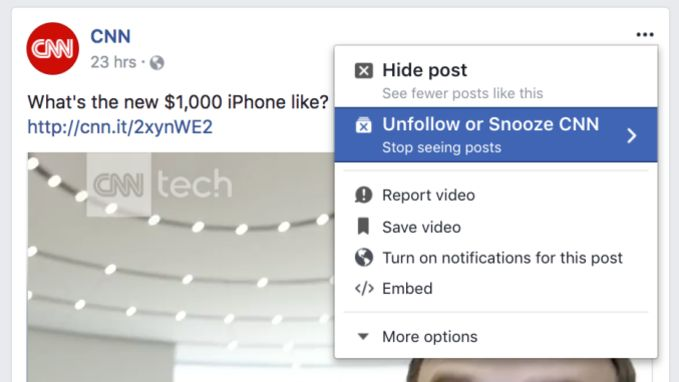 Facebookvriend even beu? Leg hem het zwijgen op met de snoozeknop!