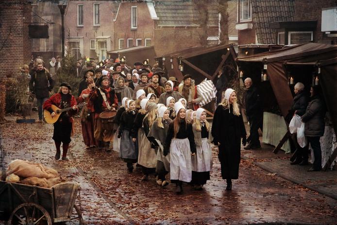 Sfeerbeeld van een eerdere editie van het Historisch Schouwspel in Den Ham.