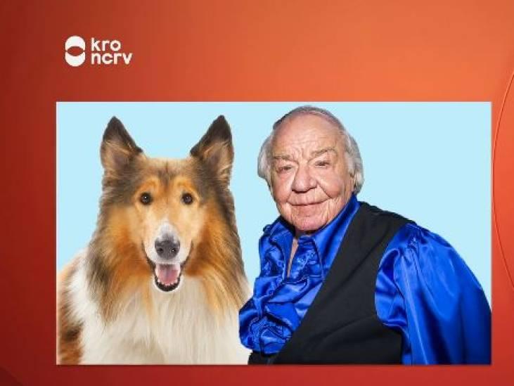 Een herdershond en die bekende acrobaat naast elkaar: Lassie en Adriaan. Briljant!