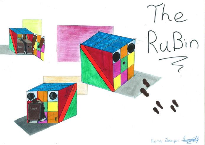 Sibian Dui en Hasmik Zakarjan ontwierpen de pratende prullenbak met de naam Rubbish Cube.