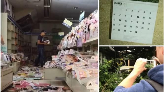 De plaats waar alle kalenders bleven stilstaan op 11 maart 2011: Belg en Nederlander dringen met camera binnen in verboden zone Fukushima