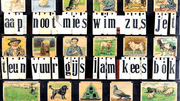 Aap Noot Mies Leesplank in het Nationaal Onderwijsmuseum. Beeld anp