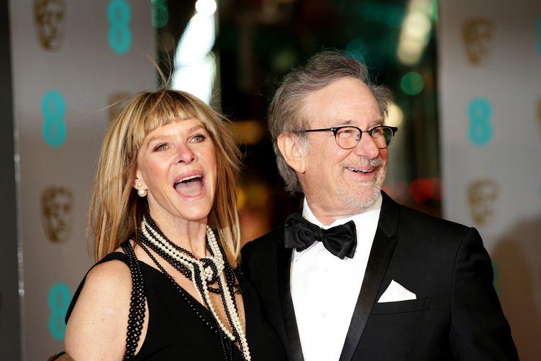 Spielberg en zijn huidige vrouw, Kate Capshaw.