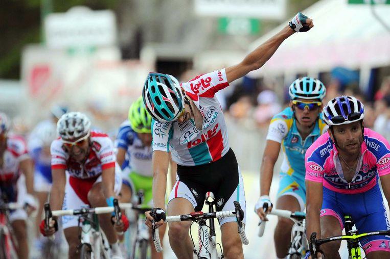 Bart De Clercq in de Ronde van Italië (2011).