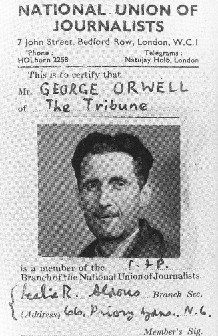 George Orwell op een foto uit 1947. Beeld ANP