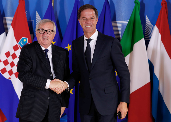 Jean-Claude Juncker en Mark Rutte