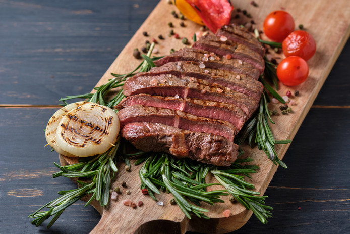 Voor het produceren van rundvlees is veel water nodig.