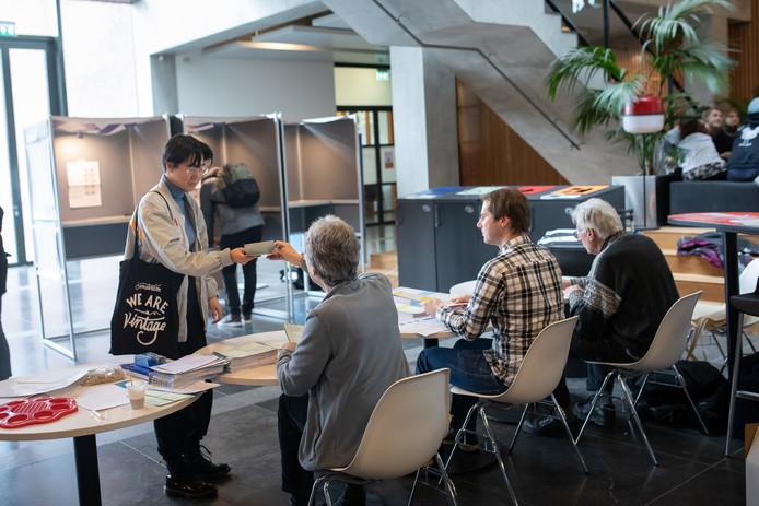 In Wageningen werd ook gestemd op de universiteitscampus