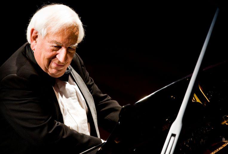 De wereldberoemde pianist Daniel Wayenberg gaf in 2011 in Haarlem een jubilieumconcert ter gelegenheid van zijn tachtigste verjaardag.  Beeld ANP
