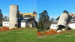Het schokkend moment waarop afbraak van silo helemaal verkeerd gaat