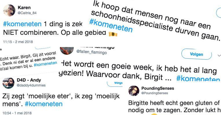 Birgit kreeg heel wat commentaar op sociale media