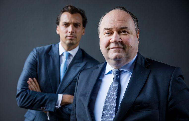 Forum voor Democratie-leider Thierry Baudet (links) en senator en medeoprichter van de partij Henk Otten (rechts). Beeld ANP