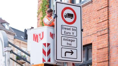 Hamburg zet verbod op dieselauto's door