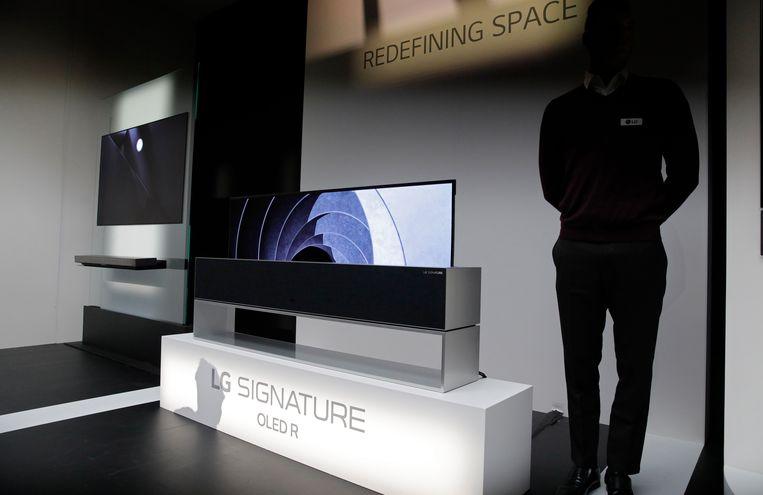 LG Signature OLED R oprolbare tv. Beeld AP