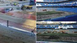 Opmerkelijke beelden: Bernabéu ziet er momenteel onherkenbaar uit
