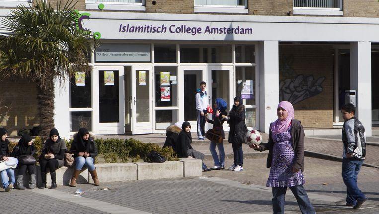 Het Islamitisch College in de Jacob Geelstraat, dat in 2010 werd gesloten. Beeld ANP