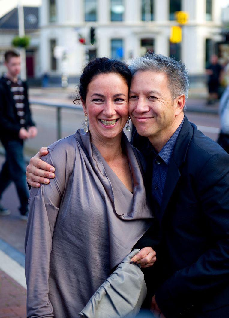 Femke Halsema met haar partner, regisseur Robert Oey.