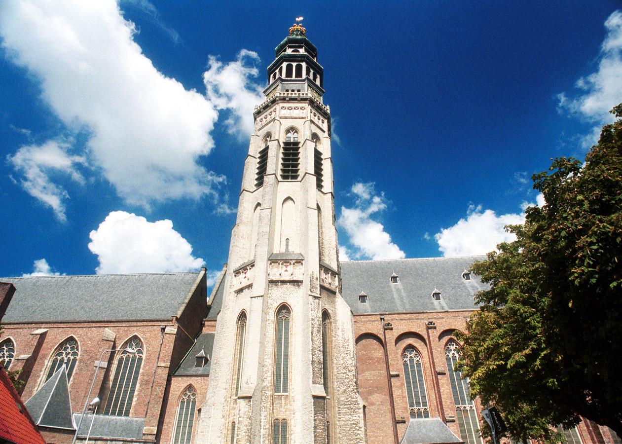 De Wandelkerk in Middelburg, een van de locaties waar quilts van Marlène Sanders zijn te zien.