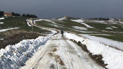 Nu nog sneeuw op Strade Bianche, zaterdag modder