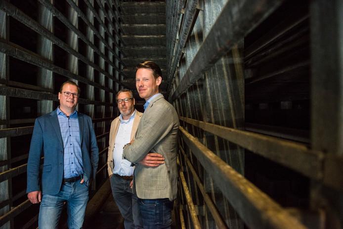 Vlnr: Geert, Carol en Joost Morssinkhof.