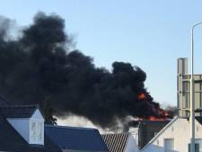 Korte maar felle brand op dak in Margarethalaan in Den Bosch