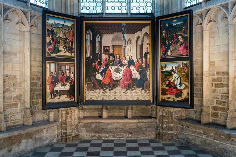 Het Laatste Avondmaal van Dieric Bouts in de Leuvense Sint-Pieterskerk.