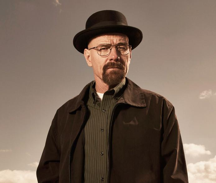 Bryan Cranston als Walter White van de serie Breaking Bad.