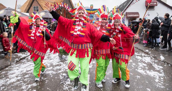 De carnavalsoptocht van Hoogland in februari 2020. Volgend jaar gaat die waarschijnlijk niet door.