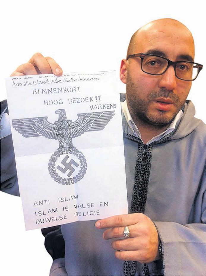 De in Breda ontvangen dreigbrief.