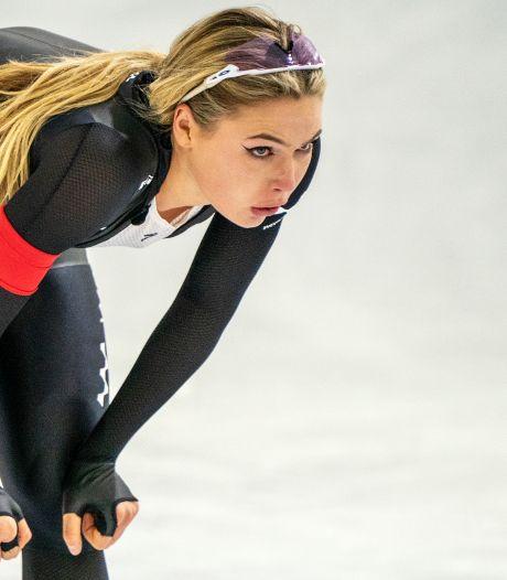 Leerdam stelt nationale sprinttitel alsnog veilig: 'Ik heb het zelf spannend gehouden'