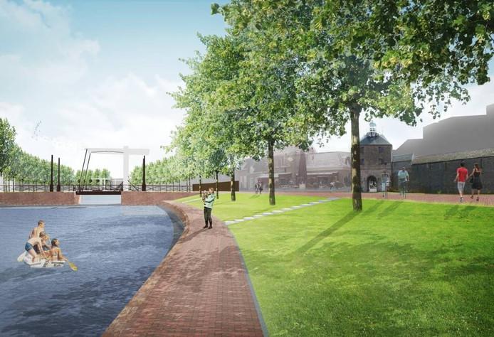 Een impressie van de toekomstige boulevard.