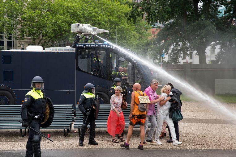 Demonstranten op het Malieveld. Beeld Arie Kievit / de Volkskrant