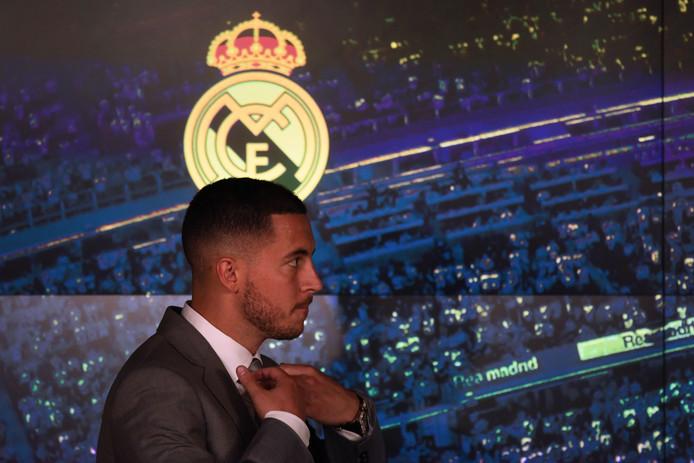 Eden Hazard lors de sa conférence de presse