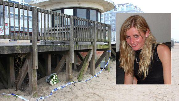 Sophie werd teruggevonden onder een houten terras op het strand van Knokke.