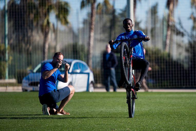 Dompé geeft het beste van zichzelf op de mountainbike.