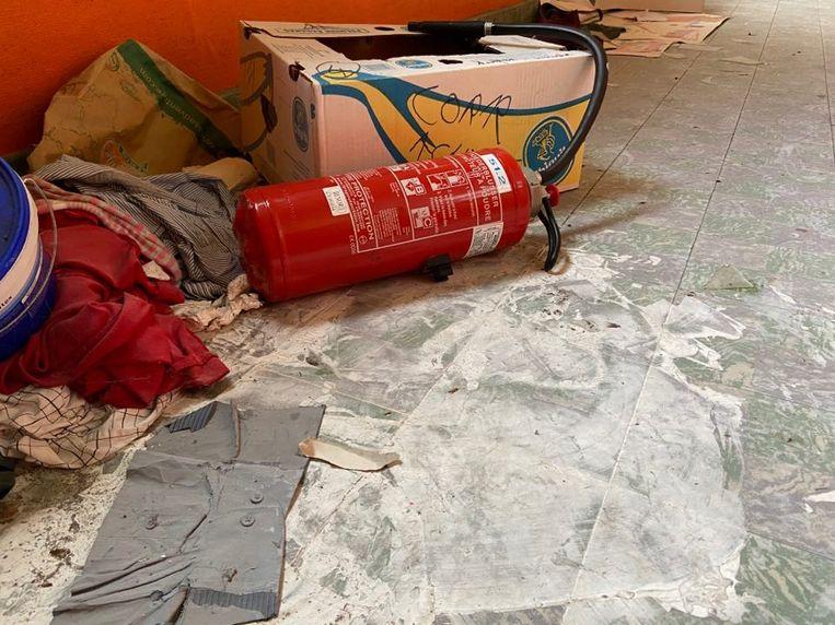 De afgelopen weken spoten de vandalen brandblussers leeg.