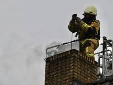 Vlammen in open haard veroorzaken schoorsteenbrand in Den Ham