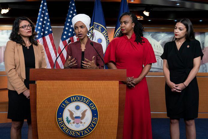 De vier vrouwelijke Congresleden waar Trump het op voorzien heeft.
