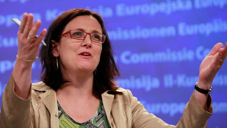 Europees commissaris Cecilia Malmström (Binnenlandse Zaken). Beeld EPA